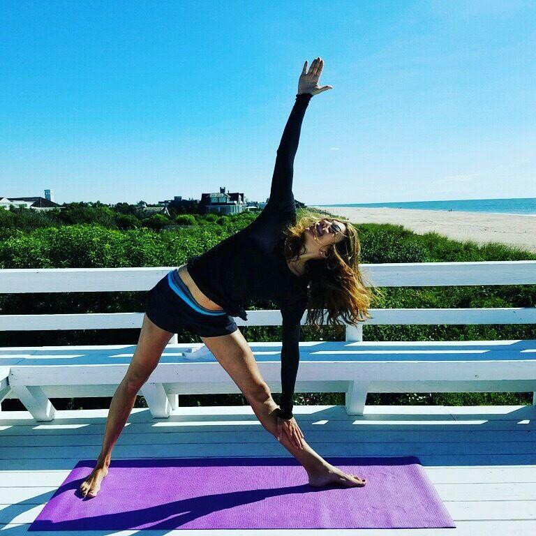 Beth enjoying yoga