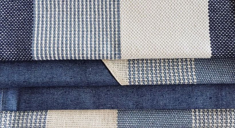 "Textiles made from upcycled denim. <a rel=""nofollow"" href=""https://www.thenewdenimproject.com/yarn-fabrics"" target=""_blank"">T"