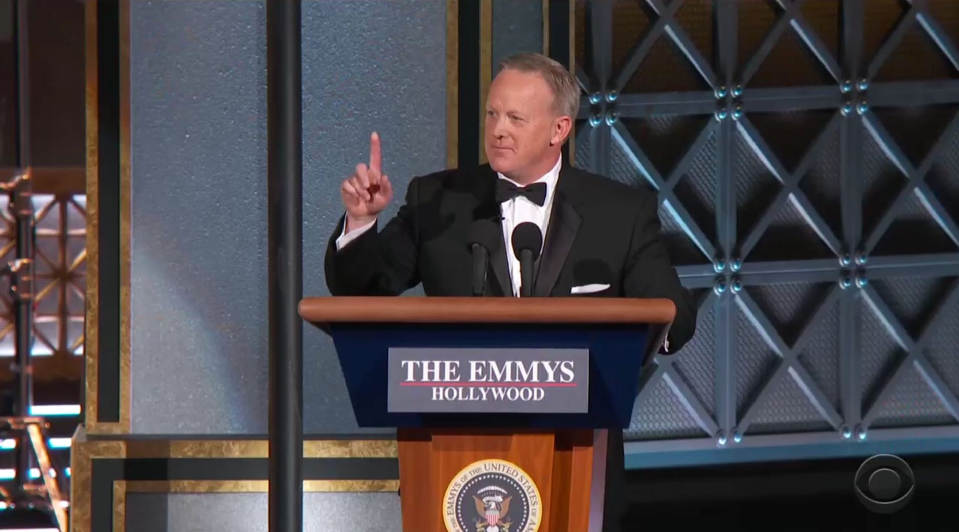 He's Back! Stephen Colbert Brings Out Sean Spicer To Troll Trump At