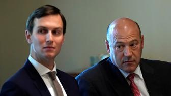 White House senior adviser Jared Kushner (L) and economic adviser Gary Cohn take part in a meeting in the Cabinet Room of the White House in Washington, U.S., September 7, 2017.  REUTERS/Kevin Lamarque
