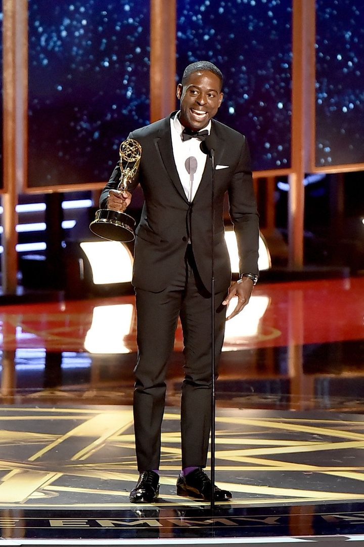 Brown was played off stage before he got a chance to finish his acceptance speech.
