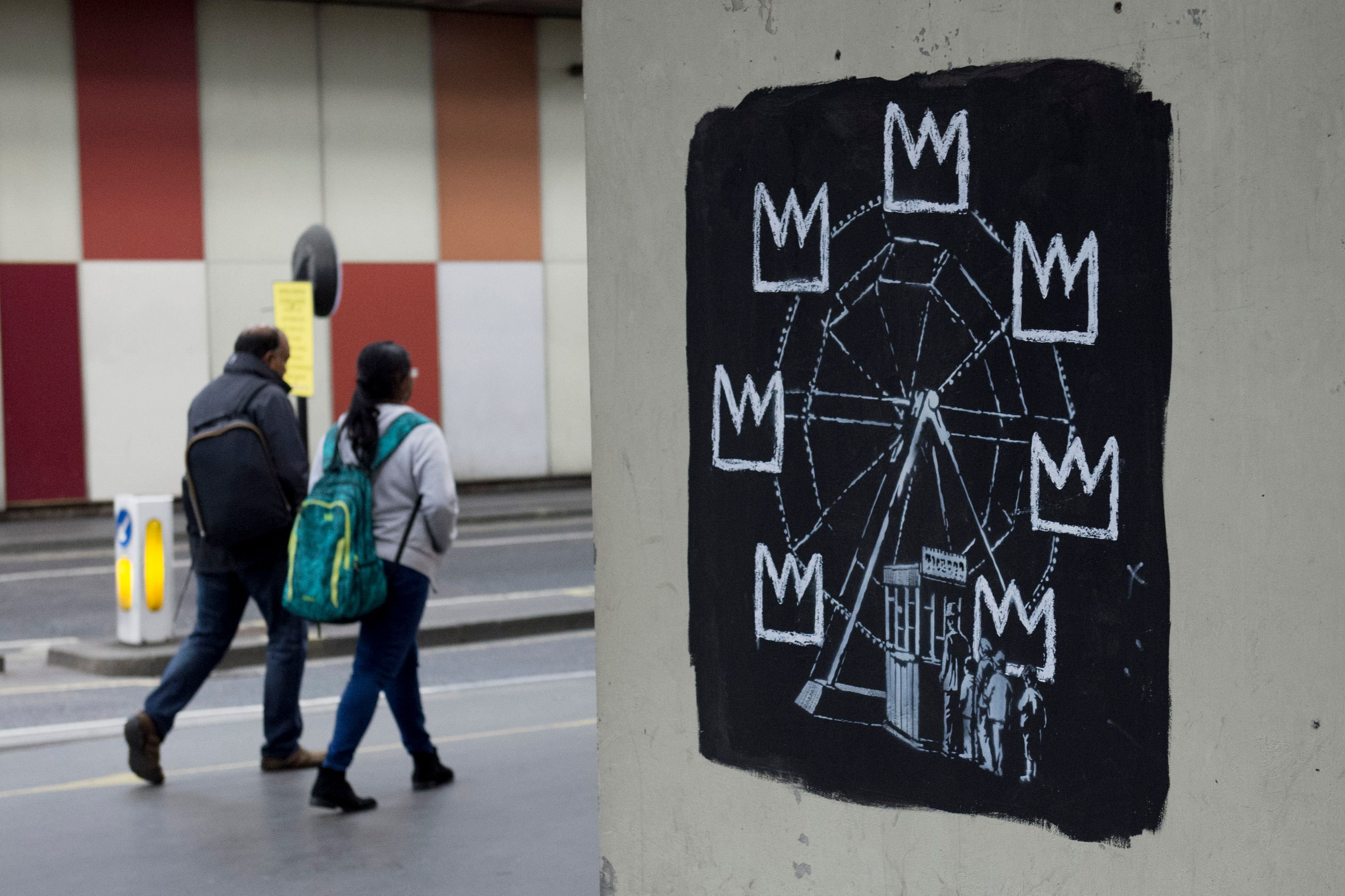 Banksy does murals at Barbican to mark new Basquiat Exhibition