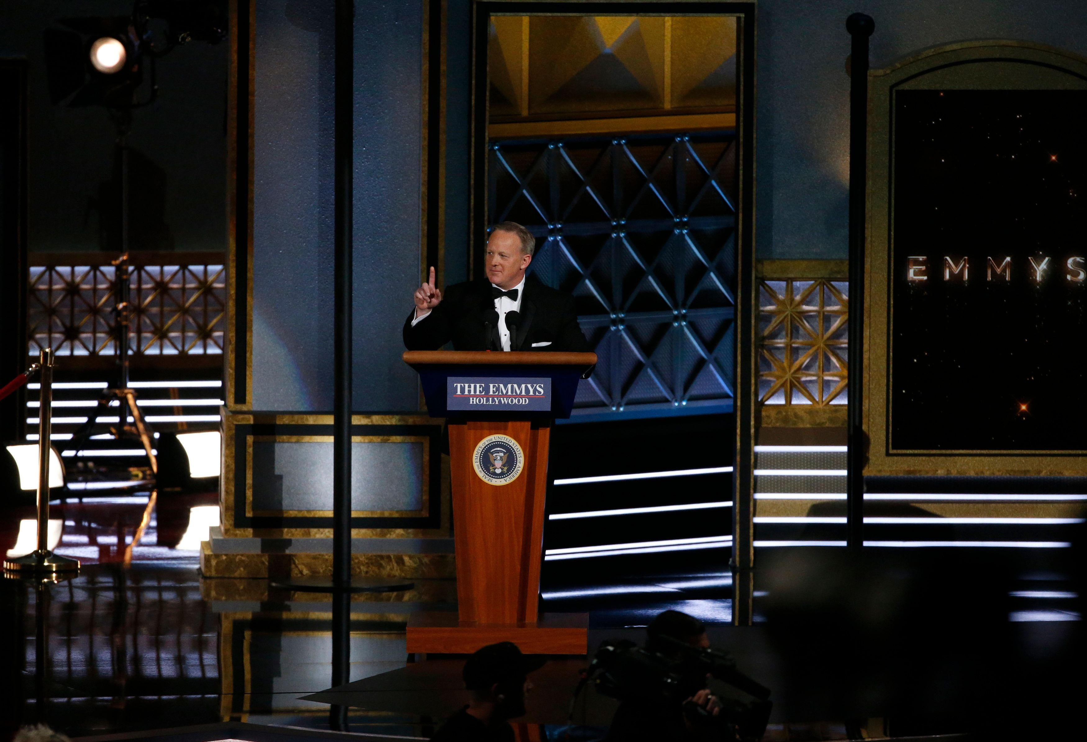 Sean Spicer's 'Joke' At The #Emmys Backfires With Viewers