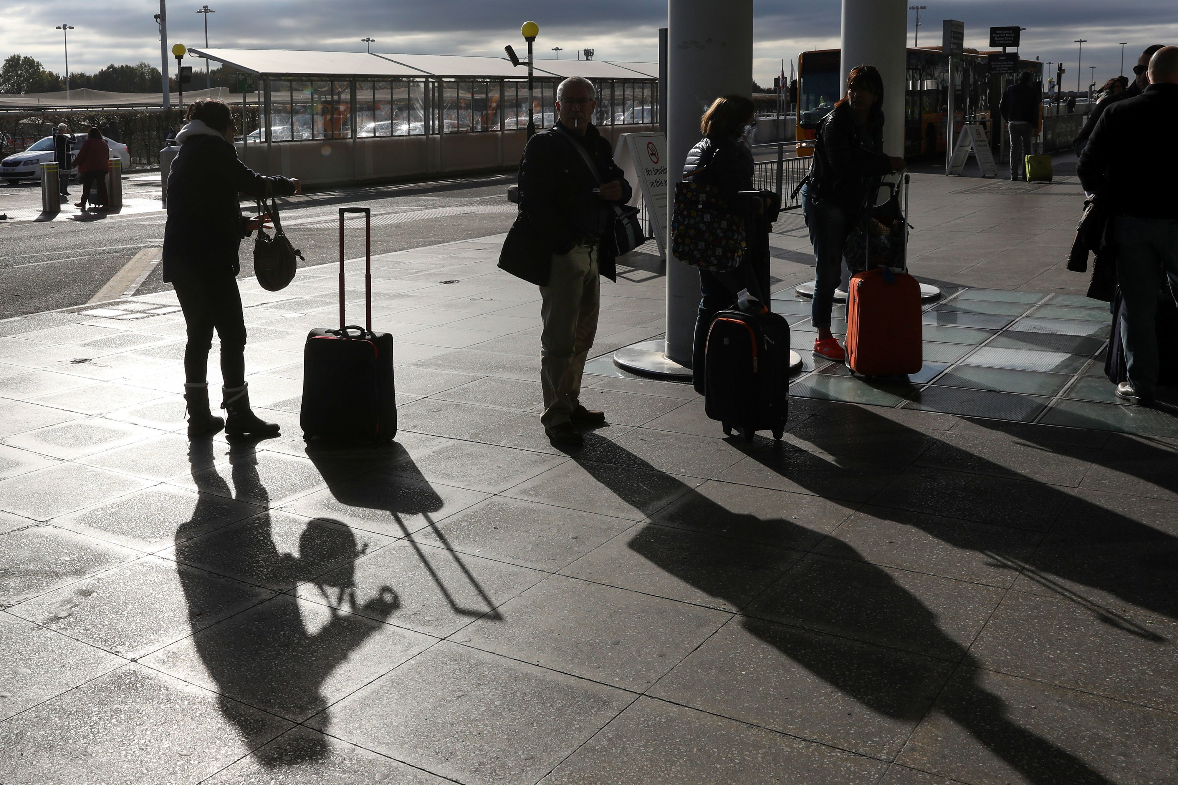 Bloomberg via Getty Images Up to 9,000 passengers a day could be affected by the cancellations