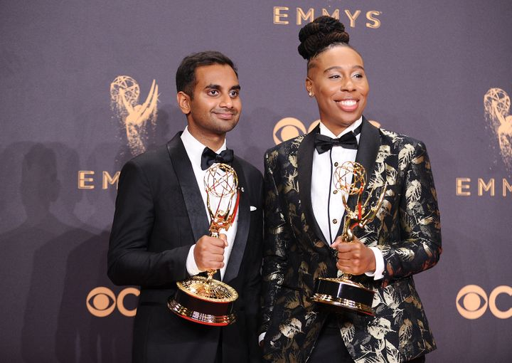 Aziz Ansari and Lena Waithe.