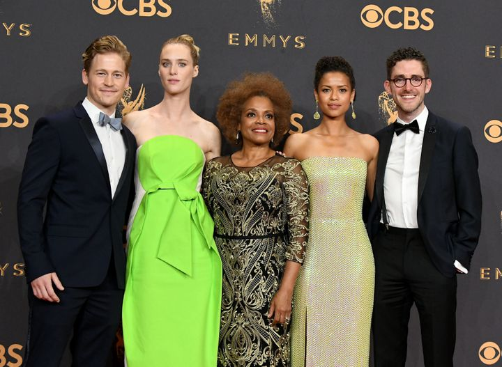 "Actors Gavin Stenhouse, Mackenzie Davis, Denise Burse, Gugu Mbatha-Raw and Billy Griffin Jr. of the ""Black Mirror"" episode ""S"
