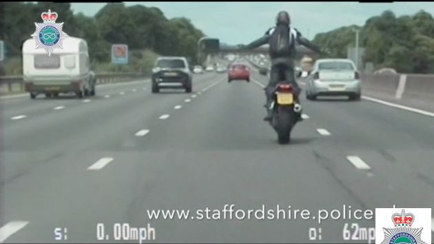 Biker jailed for M6 wheelies