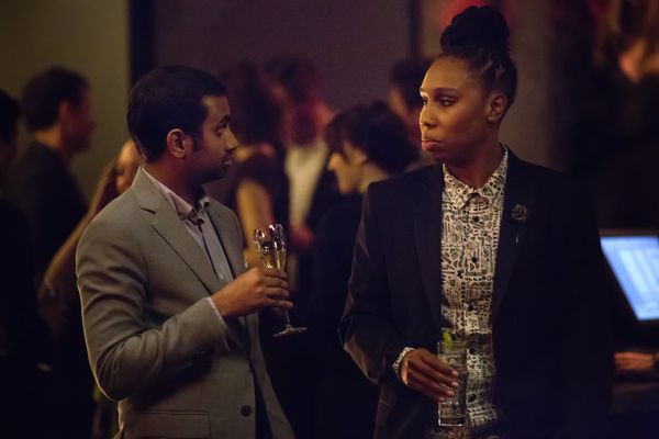 """With Aziz Ansari on their show """"Master of None."""""""
