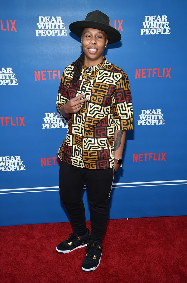 """At the premiere for """"Dear White People"""" in Los Angeles."""