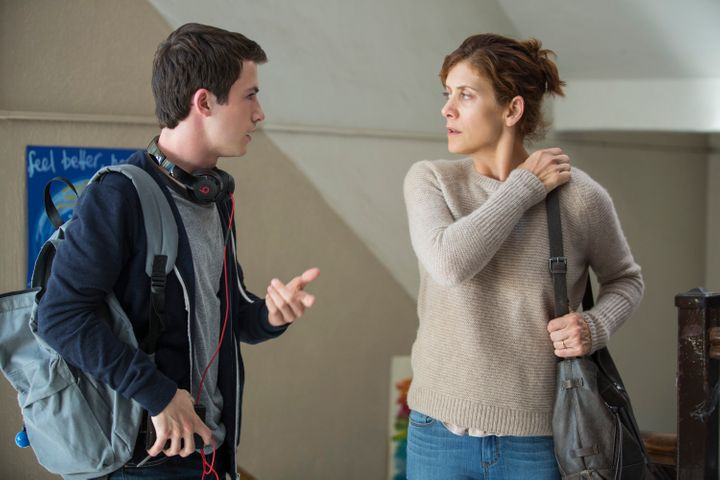 "Dylan Minnette and Kate Walsh in ""13 Reasons Why."""