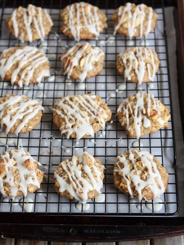 """<strong>Get the <a href=""""http://www.completelydelicious.com/iced-oatmeal-and-apple-cookies/"""" target=""""_blank"""">Iced Oatmeal And"""