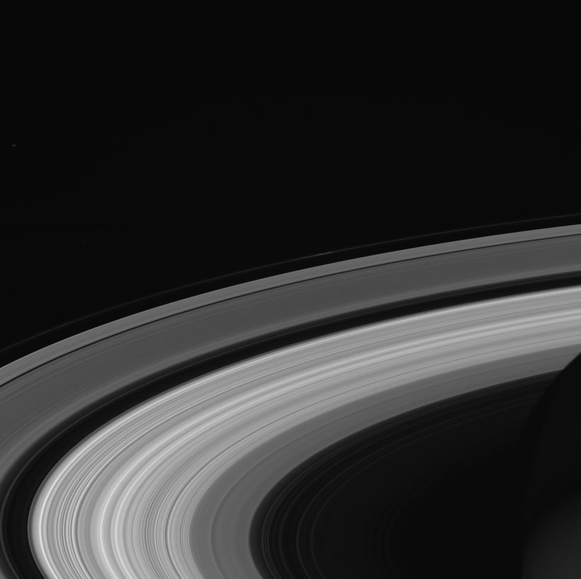 This image of Saturn's rings was taken by NASA's Cassini spacecraft on Sept. 13, 2017. It is among the last images Ca