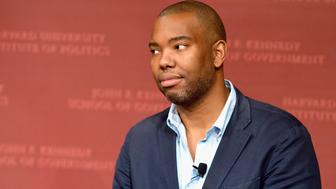 CAMBRIDGE, MA - NOVEMBER 11:  Author Ta-Nehisi Coates speaks at the Harvard University John F. Kennedy School of Government John F. Kennedy Jr. Forum Institute of Politics moderated by Harvard Professor Bruce Western on November 11, 2015 in Cambridge, Massachusetts.  (Photo by Paul Marotta/Getty Images,)