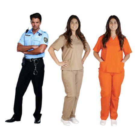 "The ultimate, easy DIY group costume. Shop <a href=""https://www.amazon.com/SCRUBS-Womens-Scrub-Medical-Pants/dp/B01J4Q0Q4U/re"