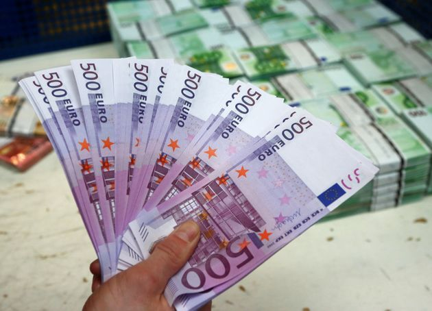 Tens of thousands of 500-euro banknotes similar to these were reportedly clogging toilets in