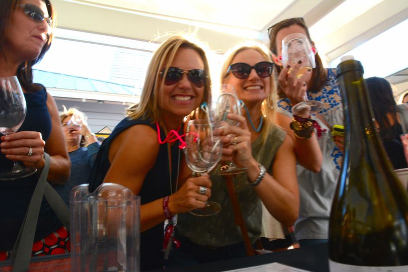 Fun at the Seeing Red Wine Festival at Seaside.