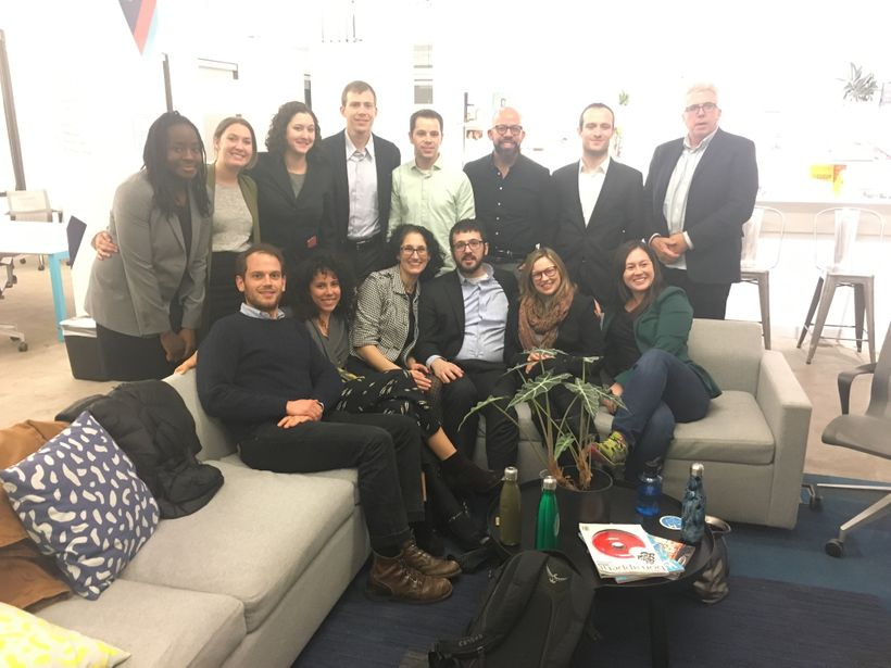 Jorge (3rd from right) with his Bard MBA class