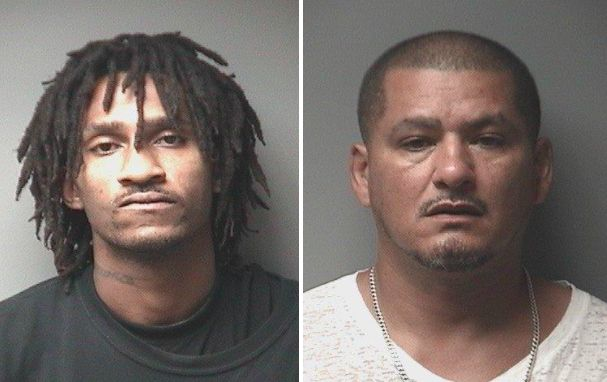 Vernon Barrett Jr., 25, and Dion Santiago, 48, were arrested on Saturday following a neighborhood shooting involving a c