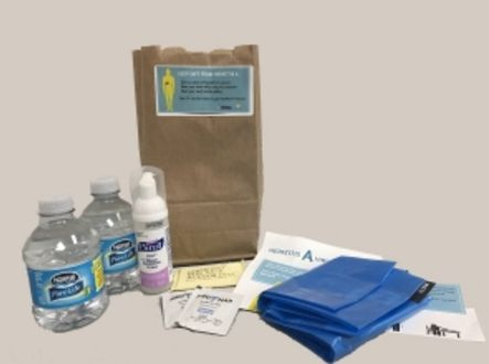 Hygiene kits are being distributed in San Diego.