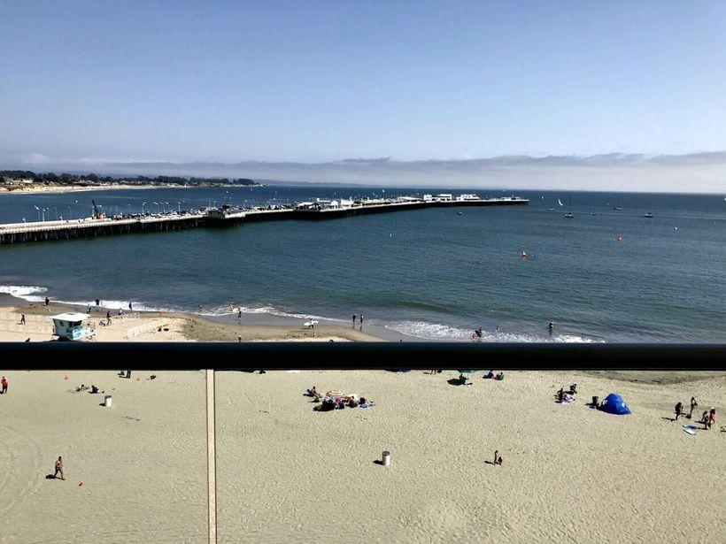 View of the historic Santa Cruz Wharf