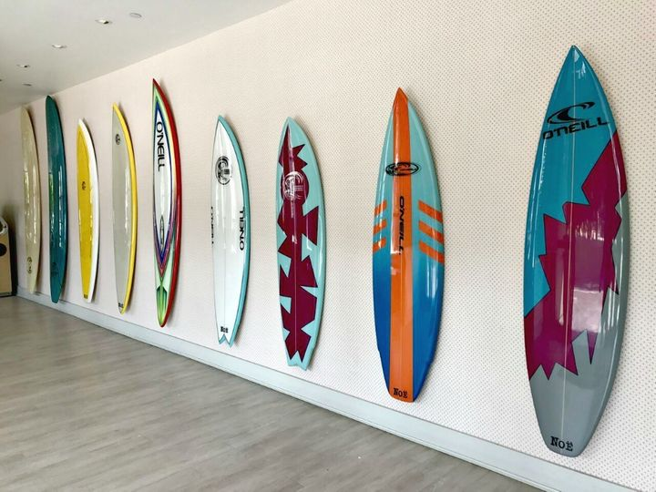 <p>O'Neill surfboards pay homage to Jack O'Neill</p>