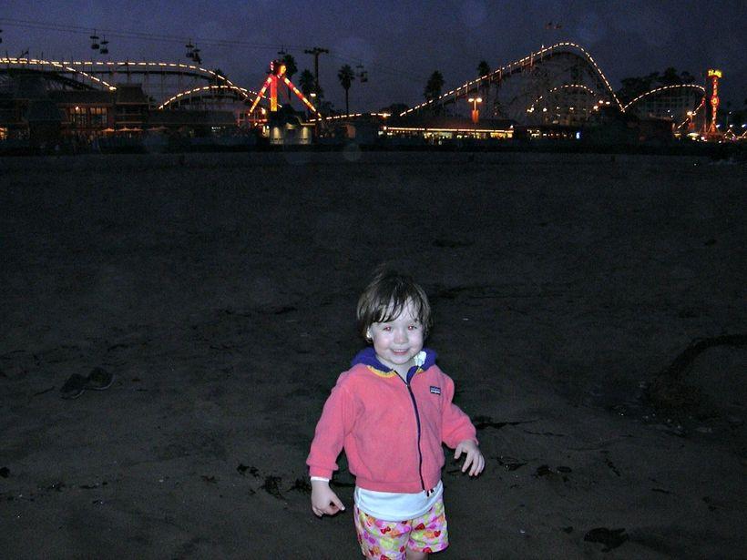 Santa Cruz Boardwalk with the Giant Dipper in background