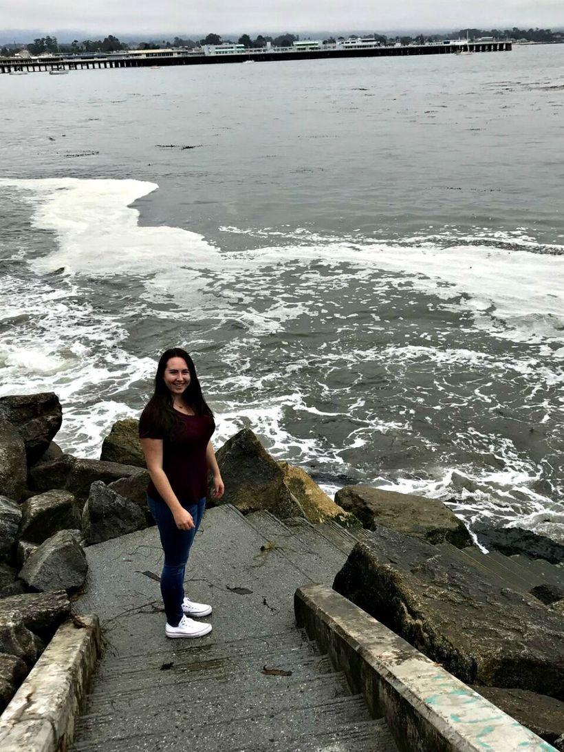 Cowell Beach with the Santa Cruz Wharf in the background.