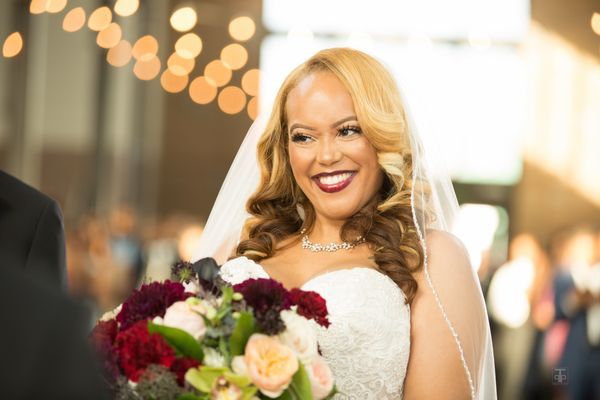 """Corey and Erika Jackson married in Detroit, Michigan."" -- <i>Perfect Touch Photography</i>"