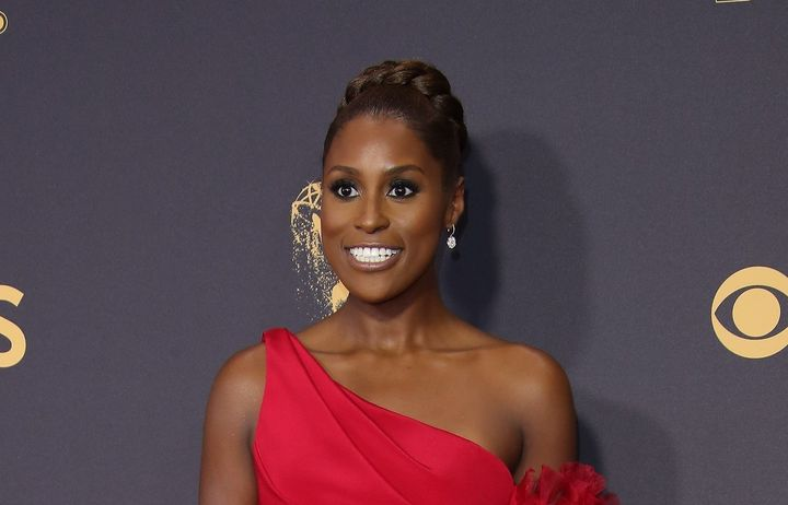 Issa Rae arrives at the 69th Annual Primetime Emmy Awards at Microsoft Theater on September 17, 2017 in Los Angeles, Californ