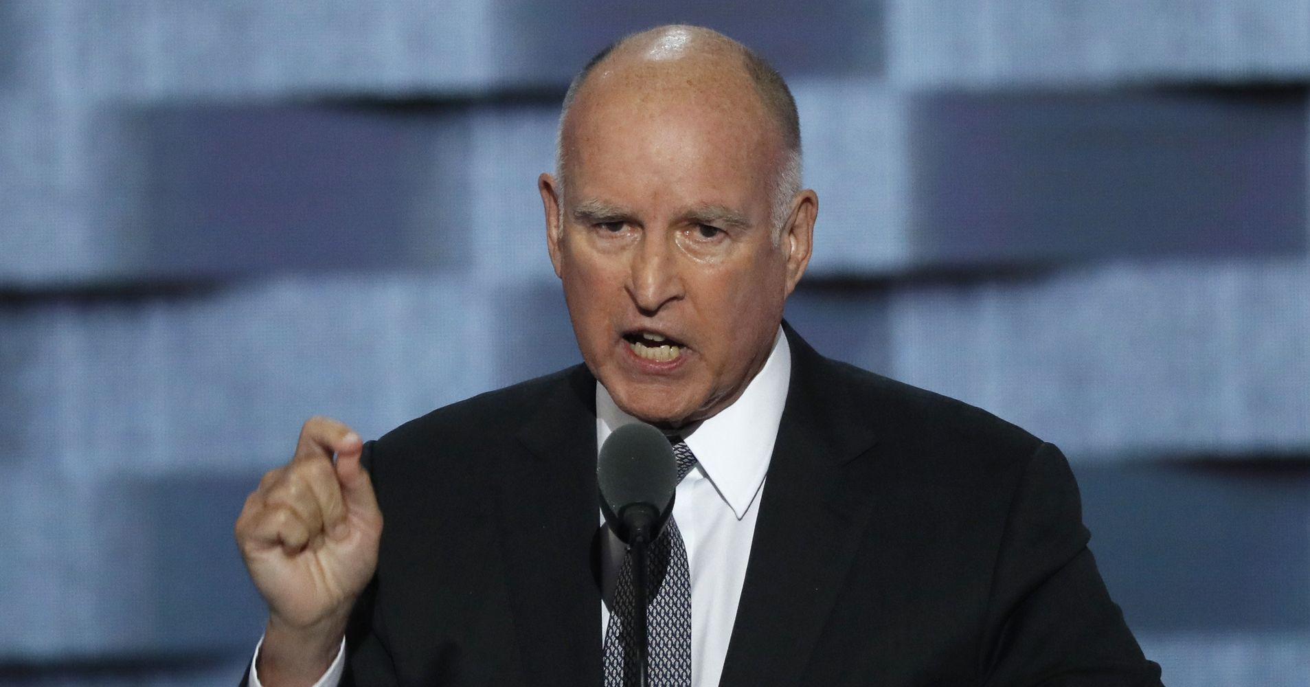 Jerry Brown: 'Troglodyte' Trump Supporters 'Dwell In Deep, Dark Caves'