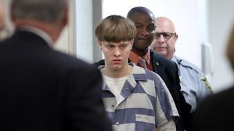 Dylann Roof is escorted into the court room at the Charleston County Judicial Center to enter his guilty plea on murder charges in state court  for the 2015 shooting massacre at a historic black church, in Charleston, South Carolina, April 10, 2017.  REUTERS/Grace Beahm/Pool
