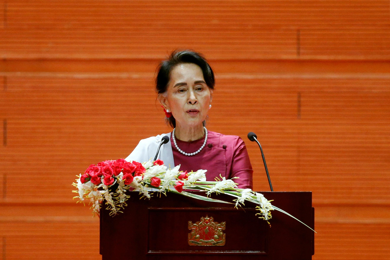 "In an address on Tuesday,<a href=""http://www.huffingtonpost.com/topic/aung-san-suu-kyi"">Aung San Suu Kyi</a>said"