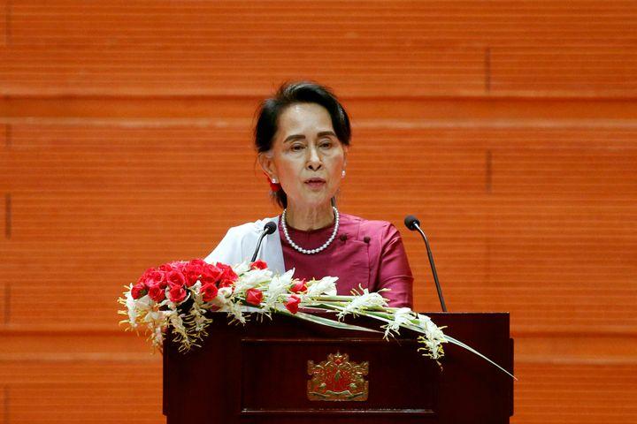 "In an address on Tuesday,&nbsp;<a href=""https://www.huffpost.com/topic/aung-san-suu-kyi"">Aung San Suu Kyi</a>&nbsp;said Myanm"