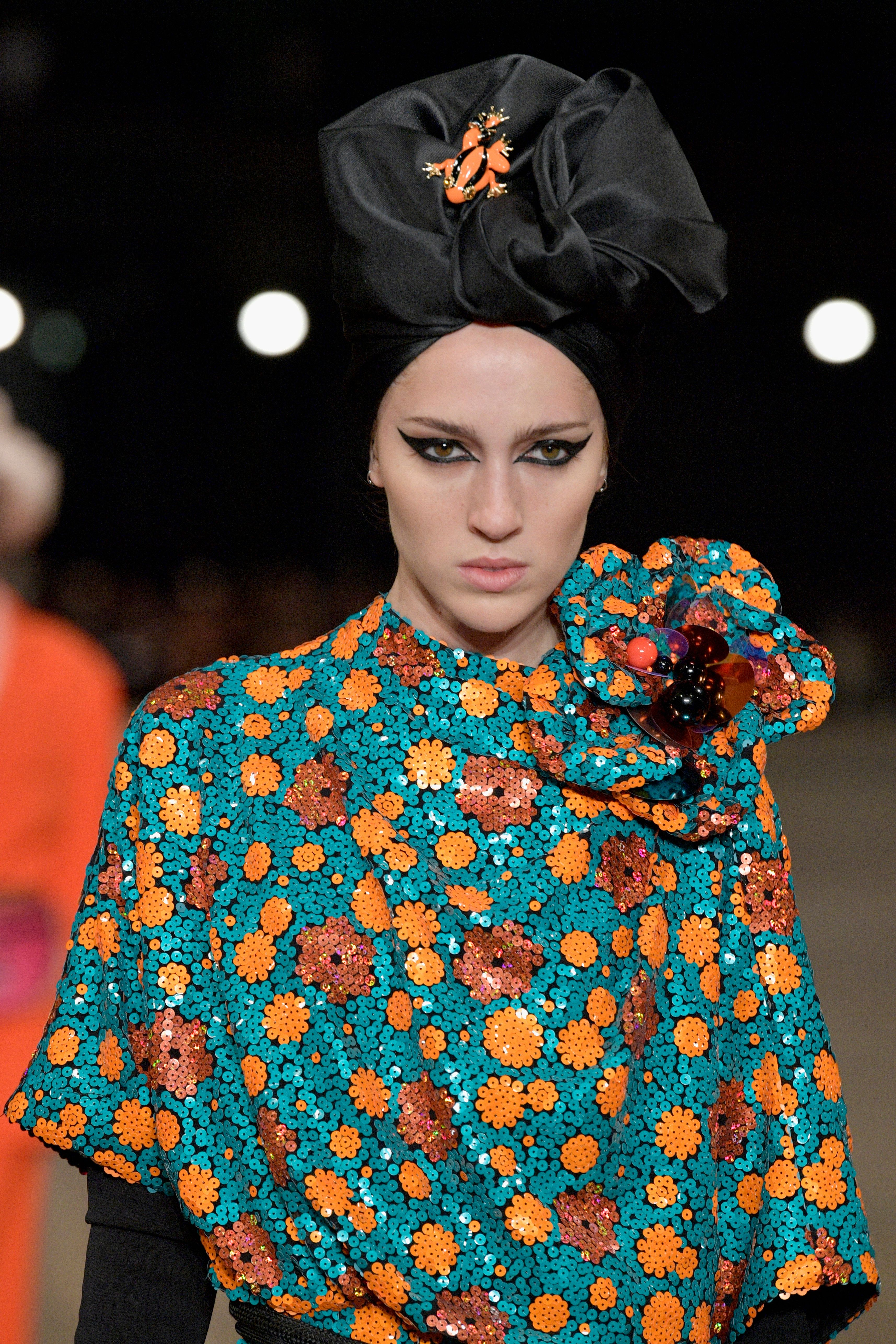 Teddy Quinlivan walks the runway for Marc Jacobs SS18 during New York Fashion Week at Park Avenue Armory...