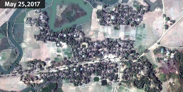 Satellite Imagery Shows Mass Destruction Of Rohingya