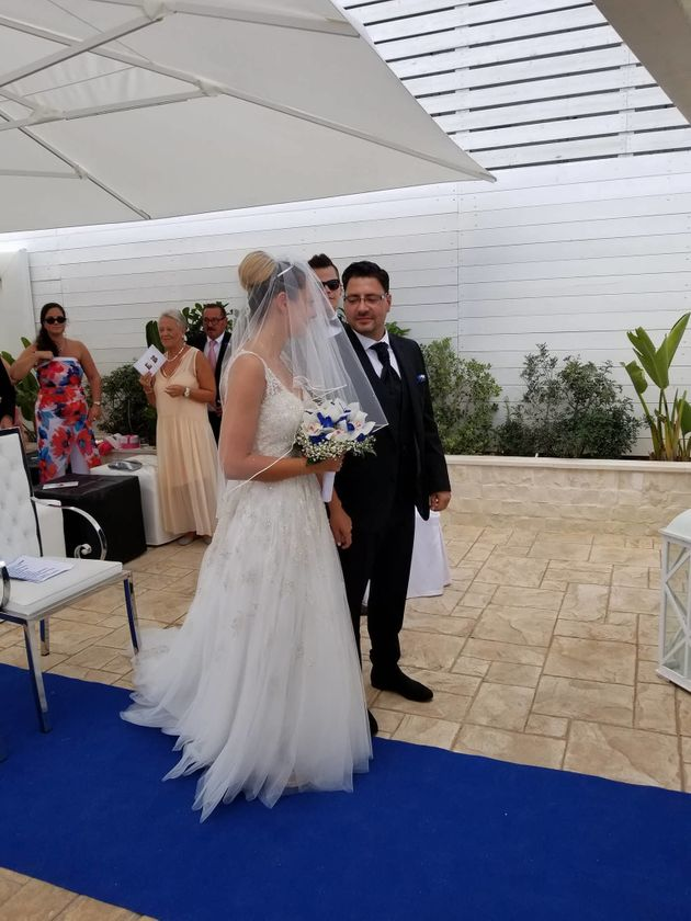 Two close friends of the couple were forced to miss the wedding