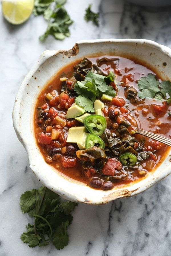 """<strong>Get the <a href=""""https://feedmephoebe.com/slow-cooker-lentil-chili-recipe/"""" target=""""_blank"""">Slow Cooker Lentil Chili"""