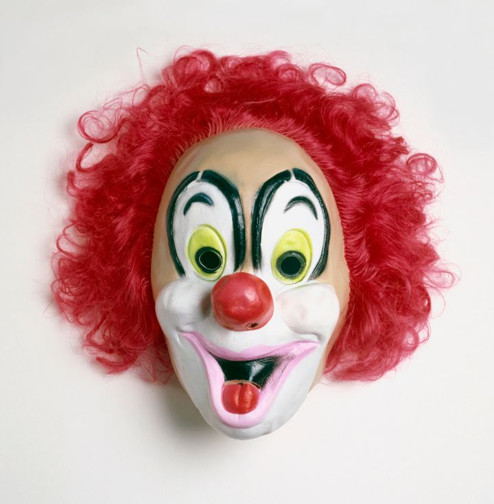 The father allegedly told police that he was only trying to discipline his daughter when he put on the clown mask, a sim