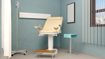 Cabinet Gynecology. Hospital. 3D rendering