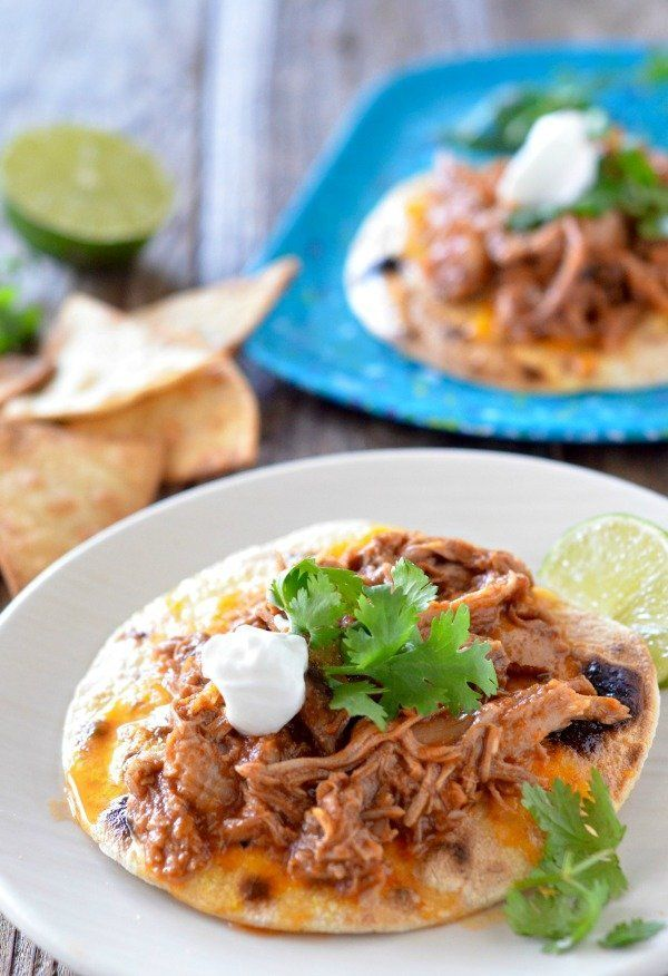 "<strong>Get the <a href=""http://www.mountainmamacooks.com/2016/10/slow-cooker-sweet-pork-tacos/"" target=""_blank"">Slow Cooker"