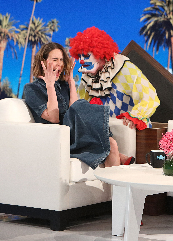 Ellen Doesn't Clown Around When Pranking Sarah