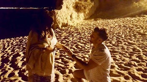 Phil proposed to his girlfriend Emily on holiday in