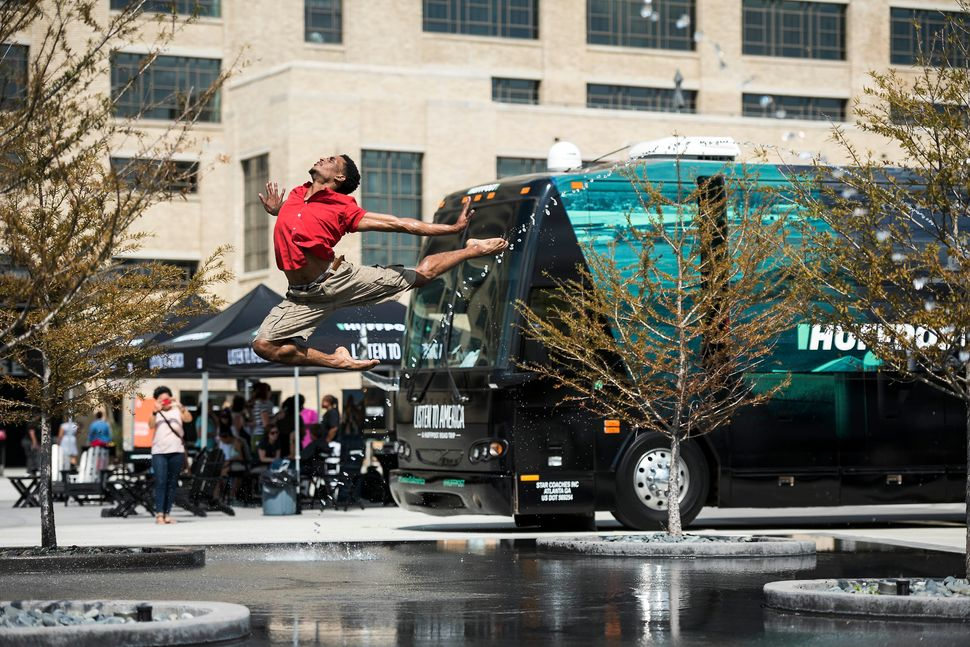 Ballet Memphis dancer Jared Brunson shows off some his dance moves.