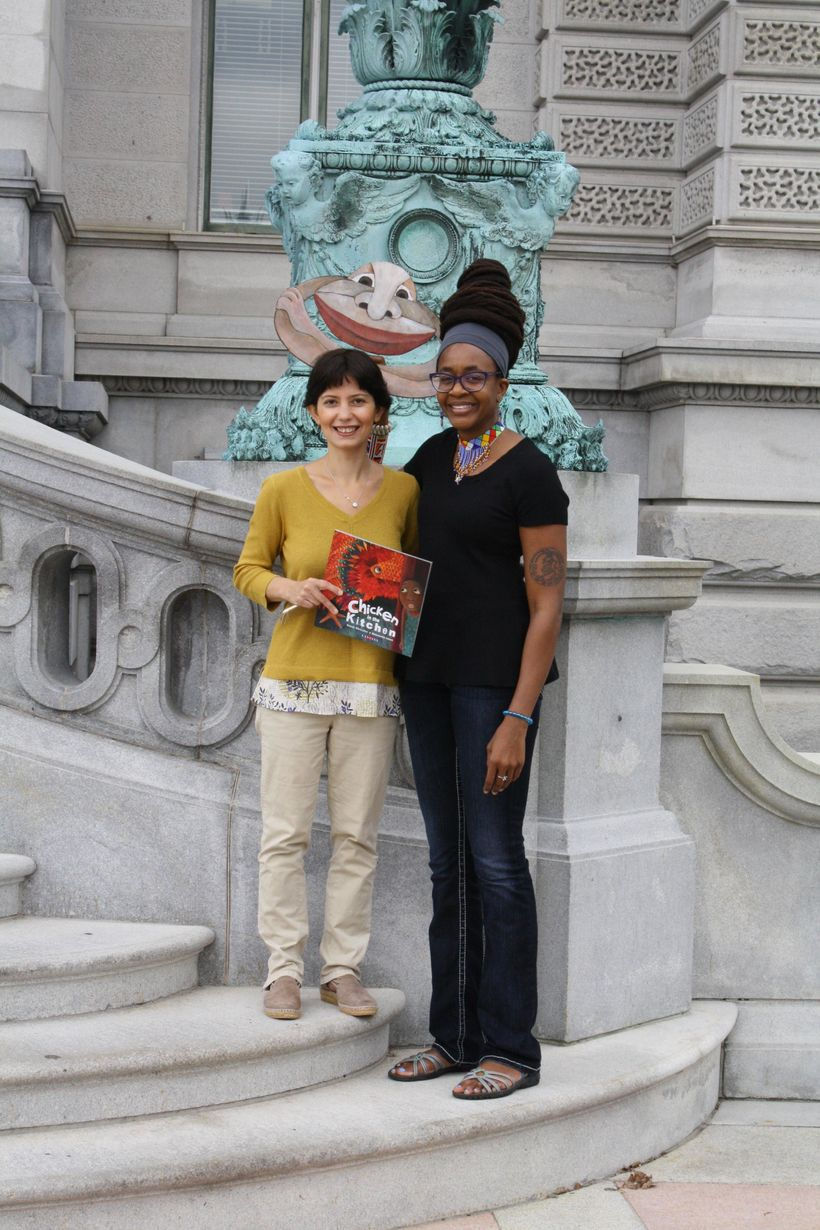 Left to right:  Mehrdokht Amini (Illustrator), Nnedi Okorafor (Author),