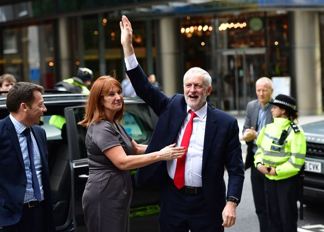 Jeremy Corbyn and office director Karie Murphy after the June