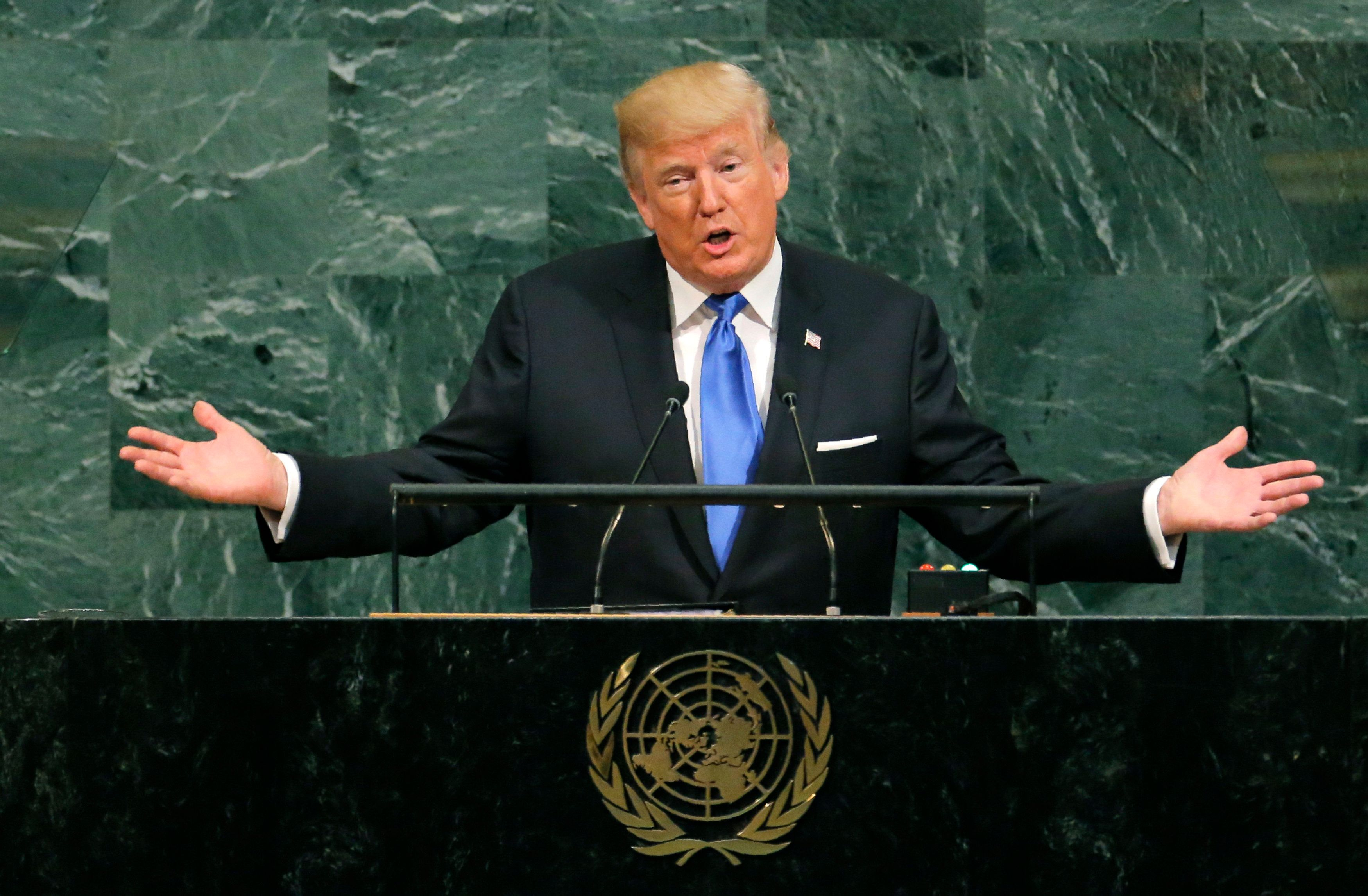 Donald Trump Threatens To 'Totally Destroy North Korea' During Speech To UN