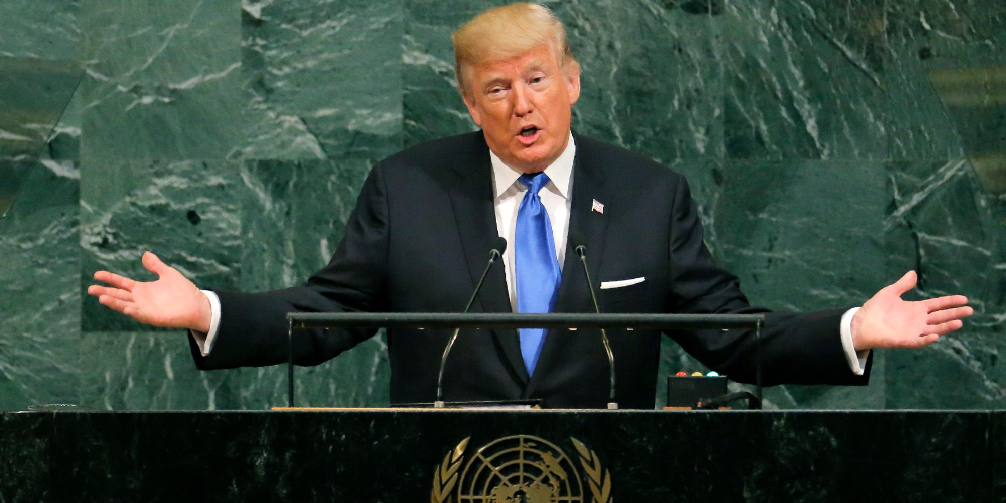Donald Trump Threatens To 'Totally Destroy North Korea' In Speech To United Nations Leaders