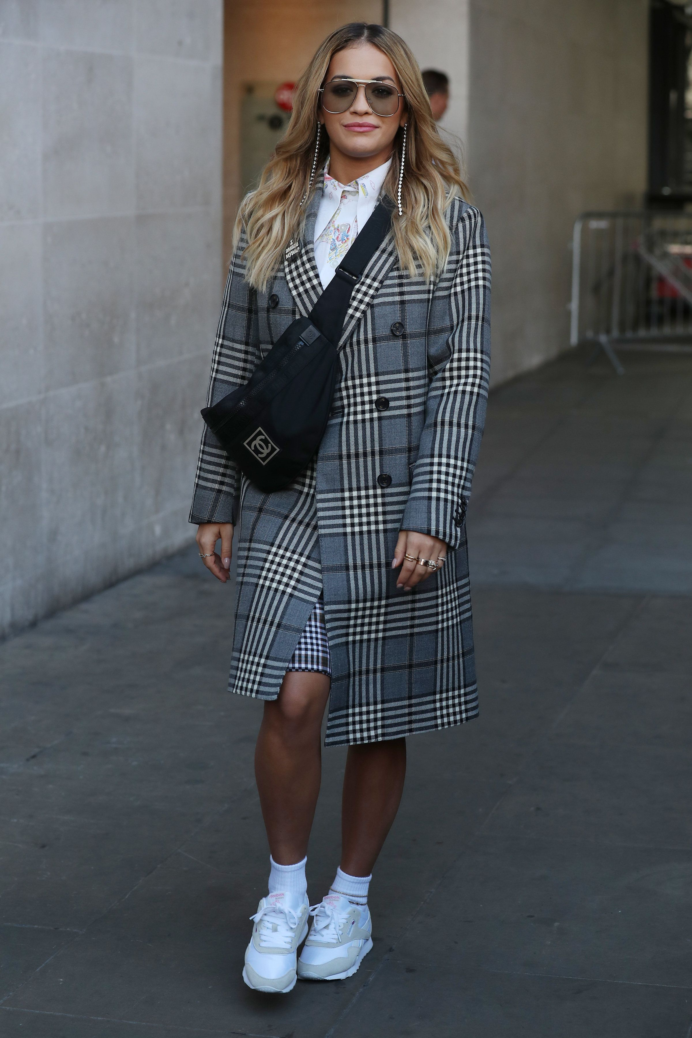Rita Ora seen at BBC Radio One on Sept.18, 2017 in London, England.