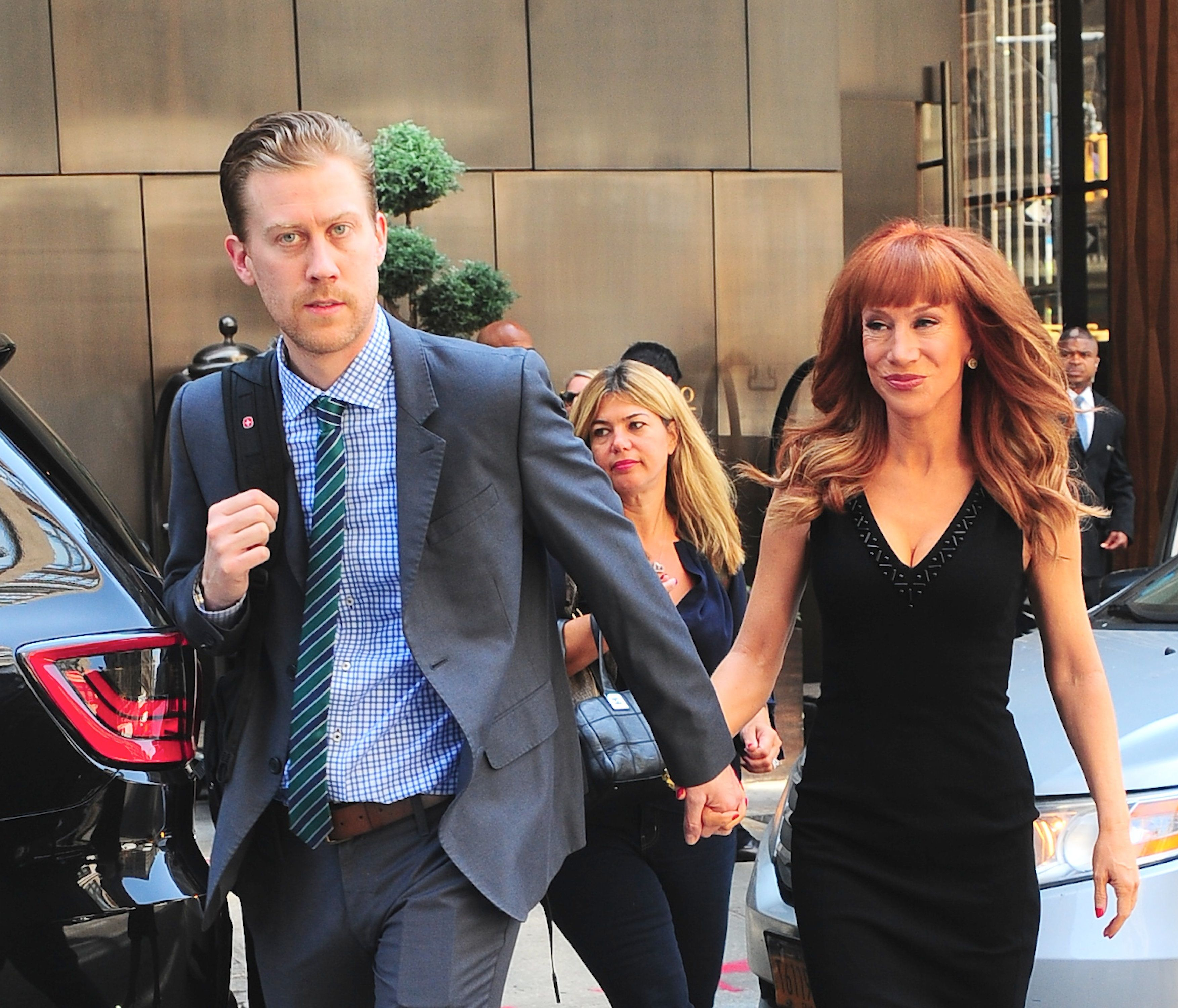 NEW YORK, NY - AUGUST 20: Randy Bick and Kathy Griffin are seen in Soho on August 20, 2014 in New York City.  (Photo by Raymond Hall/GC Images)