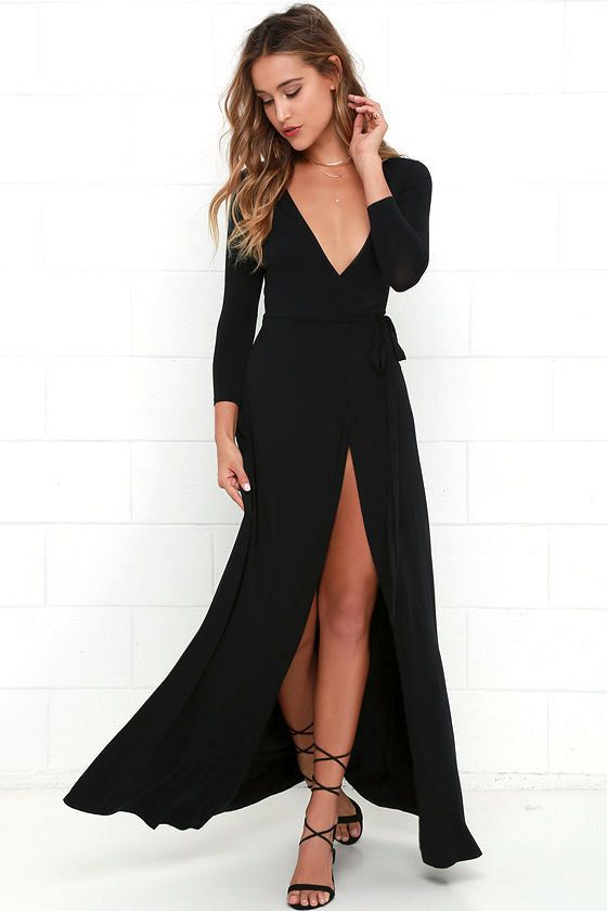"<a href=""https://www.lulus.com/products/garden-district-black-wrap-maxi-dress/260978.html"" target=""_blank"">Shop it here</a>.&"